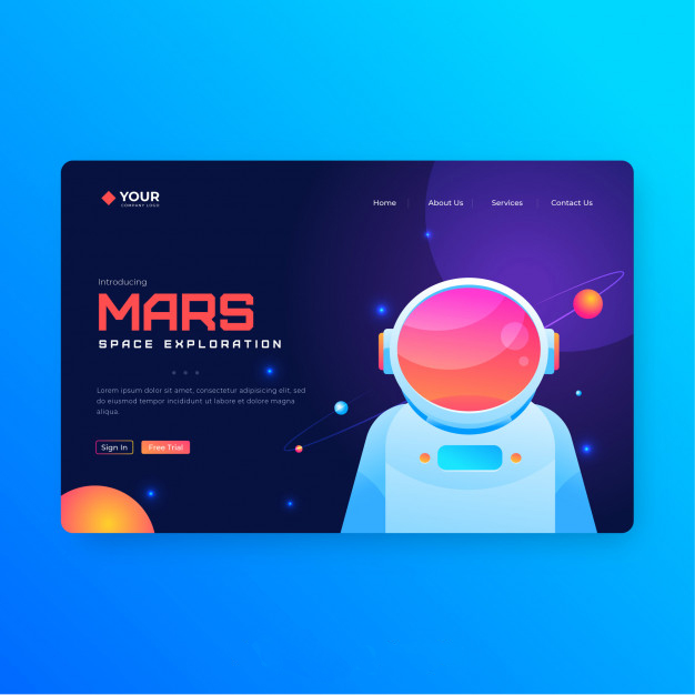 Entertainment Landing Page